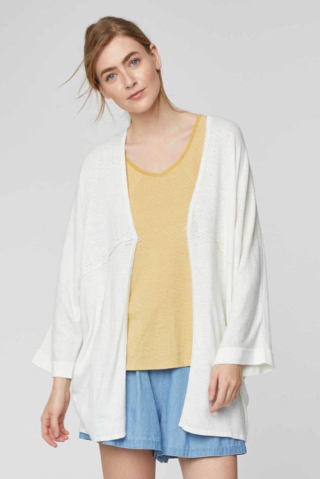 Picture of Thought Tahlia Longline Long Hemp Cardigan