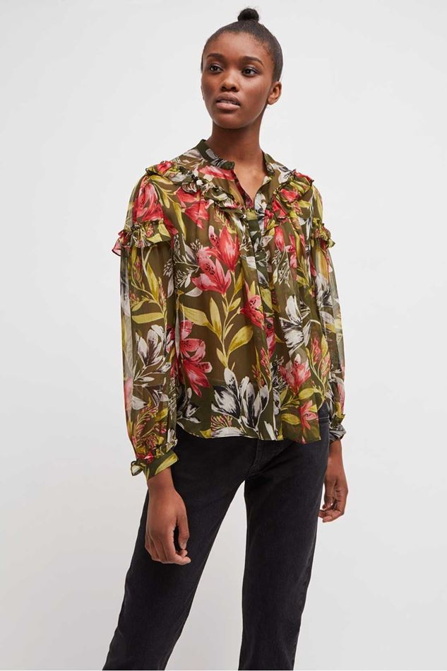 Picture of French Connection Floreta Crinkle Printed Blouse