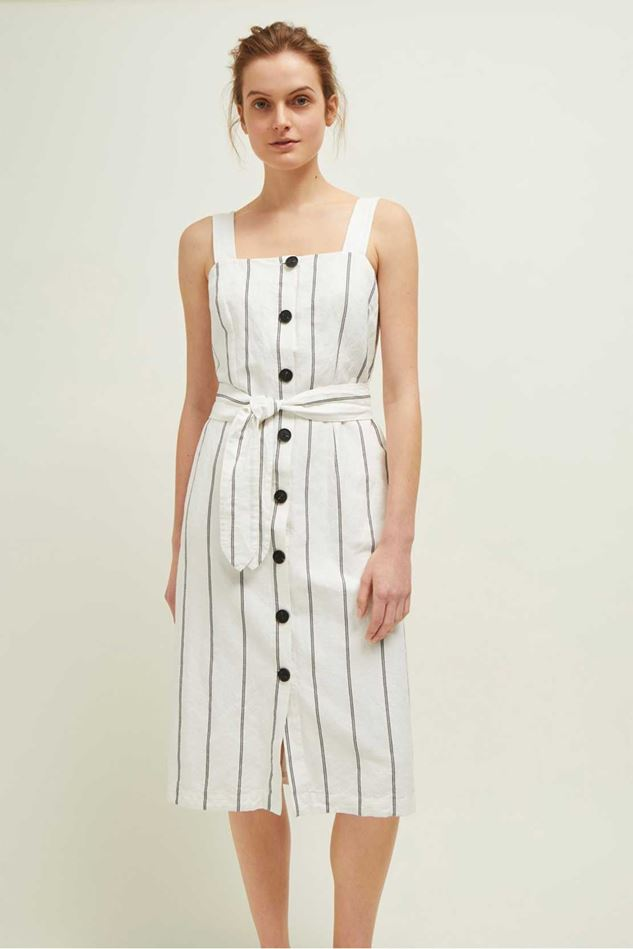 Picture of Great Plains Santa Fe Stripe Sleeveless Button Dress