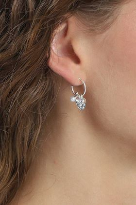 Picture of Pilgrim Ama Silver Plated Crystal Earrings
