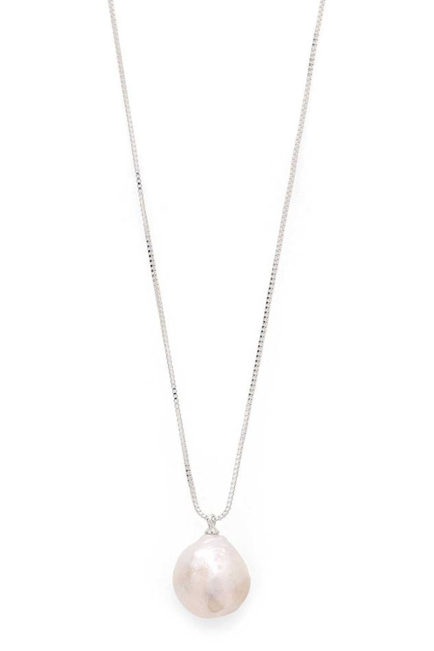 Picture of Pilgrim Ama 2 Silver Plated  Pearl Necklace