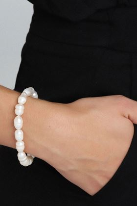 Picture of Pilgrim Ama 2 Silver Plated Pearl  Bracelet