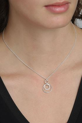 Picture of Pilgrim Akira Silver Plated Crystal Necklace