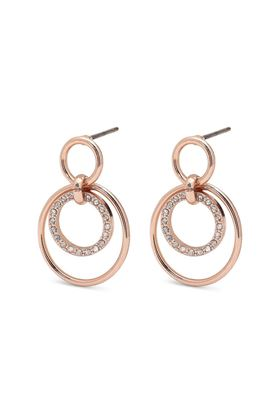 Picture of Pilgrim Akira Rose Gold Plated Crystal Earrings