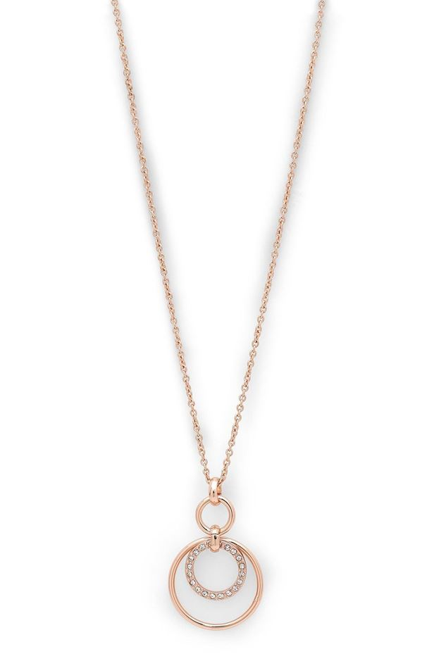 Picture of Pilgrim Akira Rose Gold Plated Crystal Necklace
