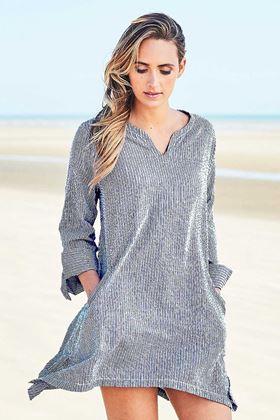 Picture of Adini Surfers Seersuckers Stripe Surfer Tunic