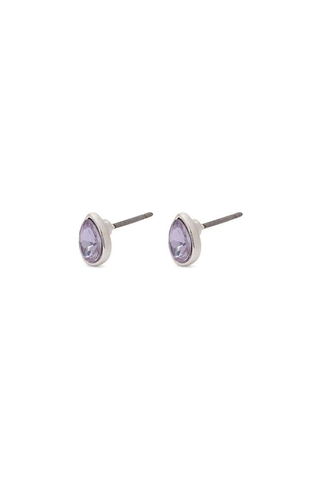 Picture of Pilgrim Etsu  Silver Plated Purple Stone Studs