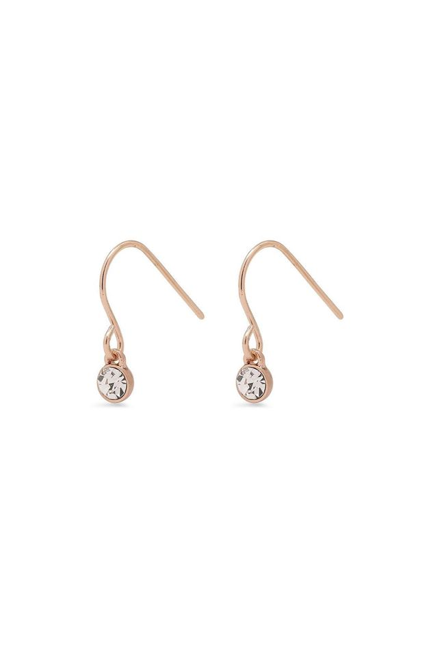 Picture of Pilgrim Lucia Rose Gold Plated Crystal Earrings