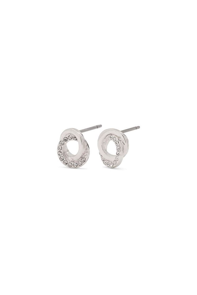 Picture of Pilgrim Tessie Silver Plated Crystal Earrings