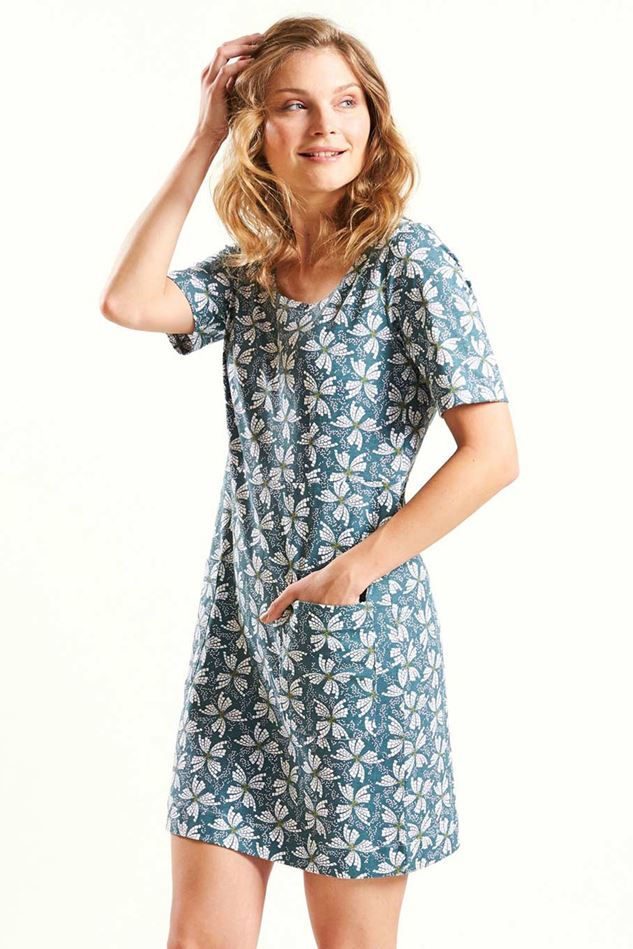 Picture of Nomads Button Back Tunic Dress