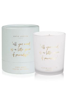 "Picture of Katie Loxton Words to Live By Candle - ""All you need is a little piece of paradise"""
