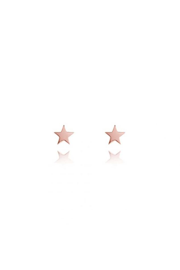 Picture of Joma Jewellery Siena Rose Gold Star Earrings