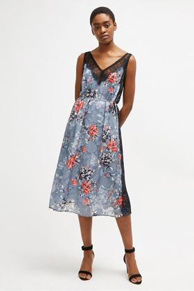 Picture of French Connection Cateline Devore Lace Slip Dress