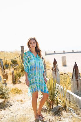 Picture of Adini Desert Stripe Enna Kaftan