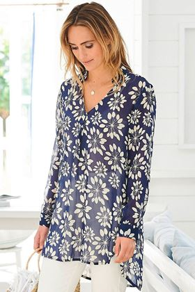Picture of Adini Grass Lily Print Carolee Tunic