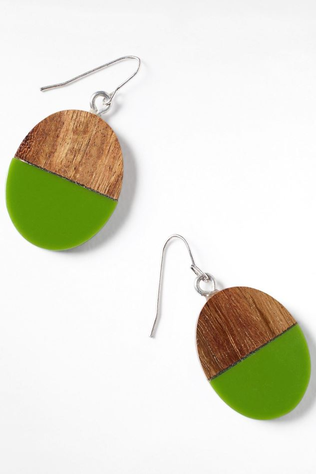 Picture of White Stuff Wood and Resin Drop Earrings