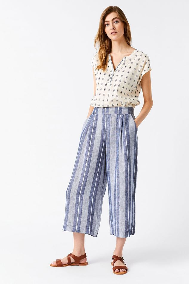 Picture of White Stuff Athel Crop Linen Culottes