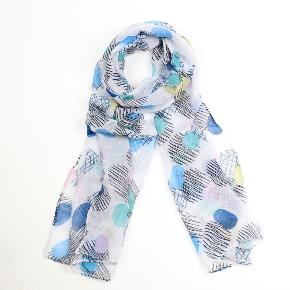 Picture of F&J Collection Abstract Scarf