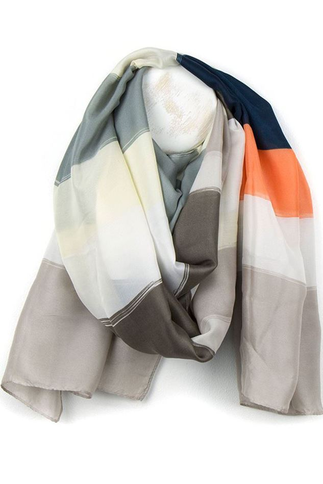 Picture of Pom Silky Stripe Scarf