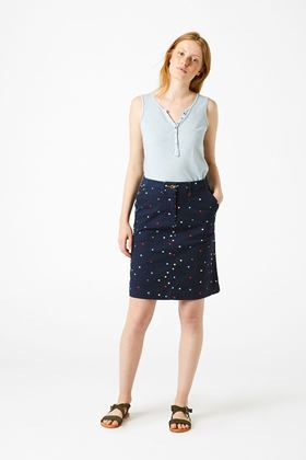 Picture of White Stuff Spot Lindenberry Chino Skirt