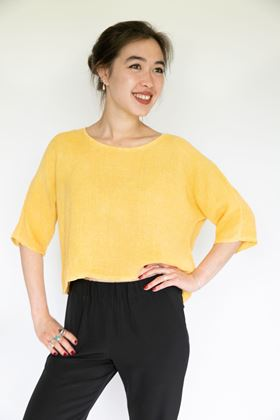 Picture of Inis Collection Cropped Gauzy Top