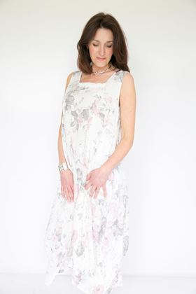 Picture of Inis Collection Floral Print Sleeveless Linen Dress