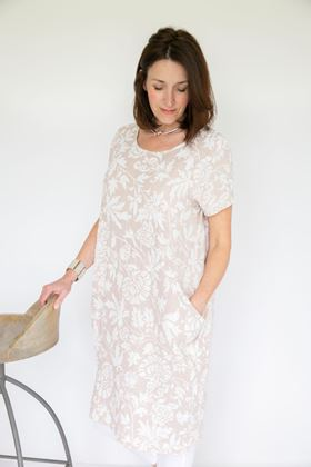 Picture of Inis Collection Two Pocket Linen Dress