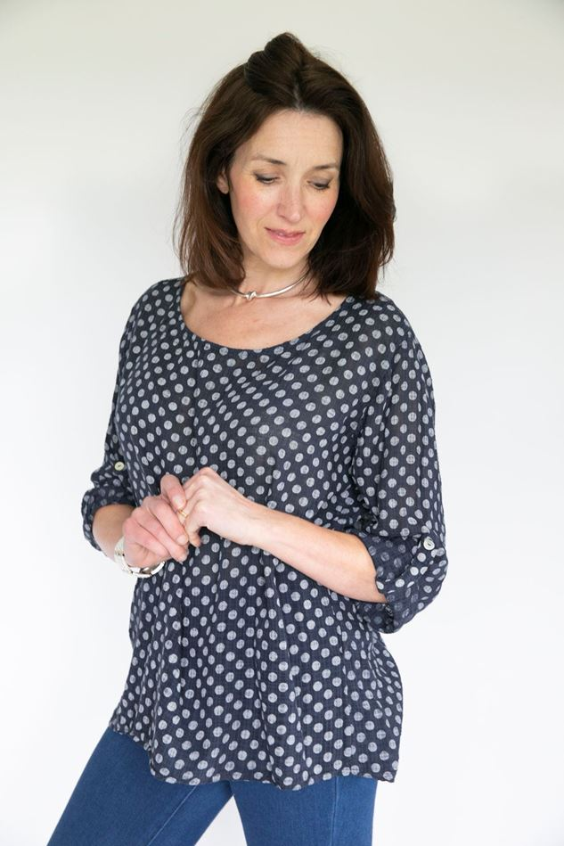 Picture of Inis Collection Cotton Gauzy Spot Top