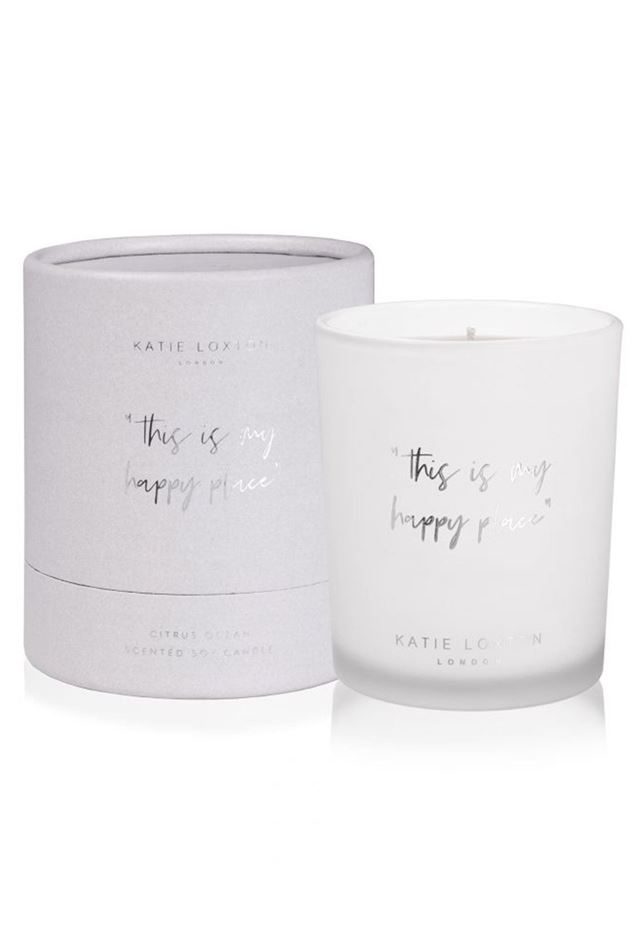 "Picture of Katie Loxton Words to Live by Candle - ""This is my happy place"""