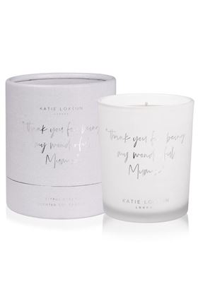 "Picture of Katie Loxton Words to Live By Candle - ""thank you for being my wonderful mum"