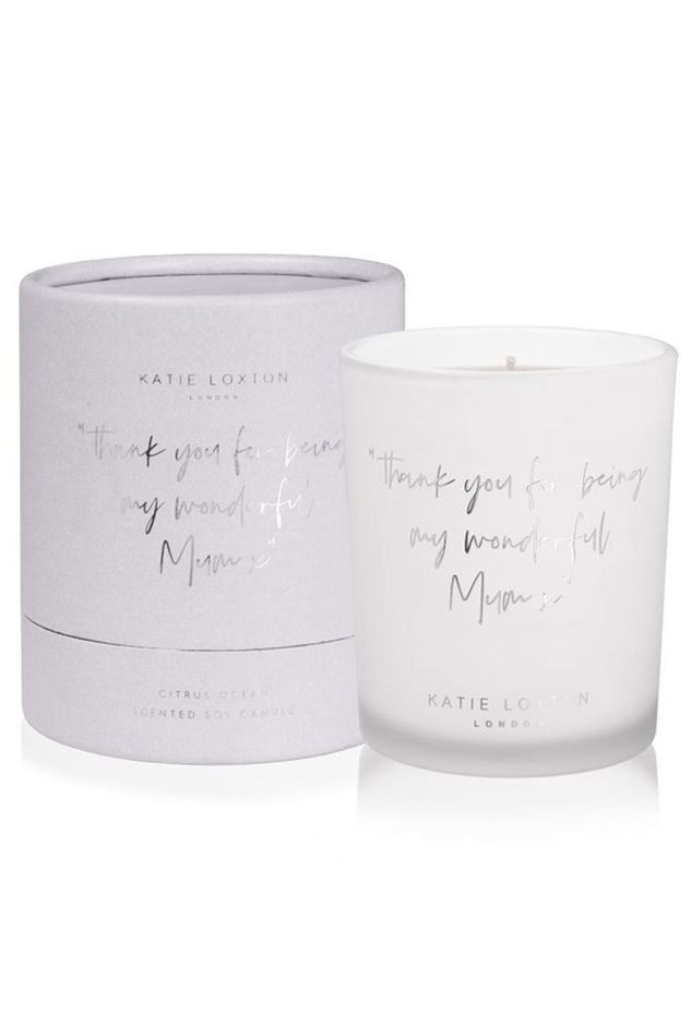"""Picture of Katie Loxton Words to Live By Candle - """"thank you for being my wonderful mum"""