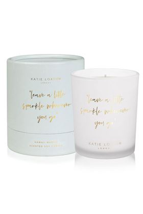 "Picture of Katie Loxton Words to Live by Candle - ""leave a little sparkle wherever you go"""