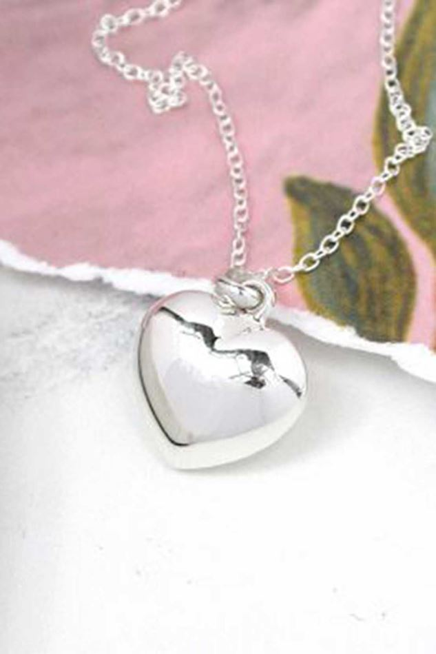 Picture of POM Sterling Silver Heart Necklace
