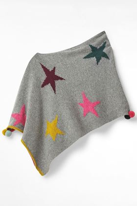 Picture of White Stuff Kids Paper Stars Poncho