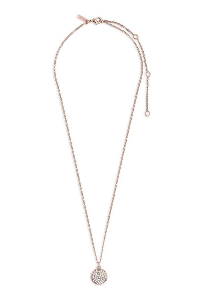 Picture of Pilgrim Heather Rose Gold Plated Crystal Necklace