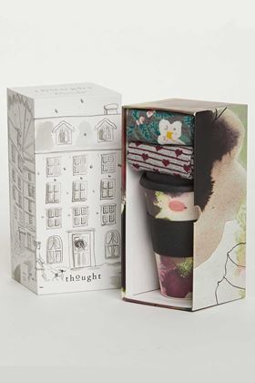 Picture of Thought Floral Bamboo Cup & Socks Gift Pack