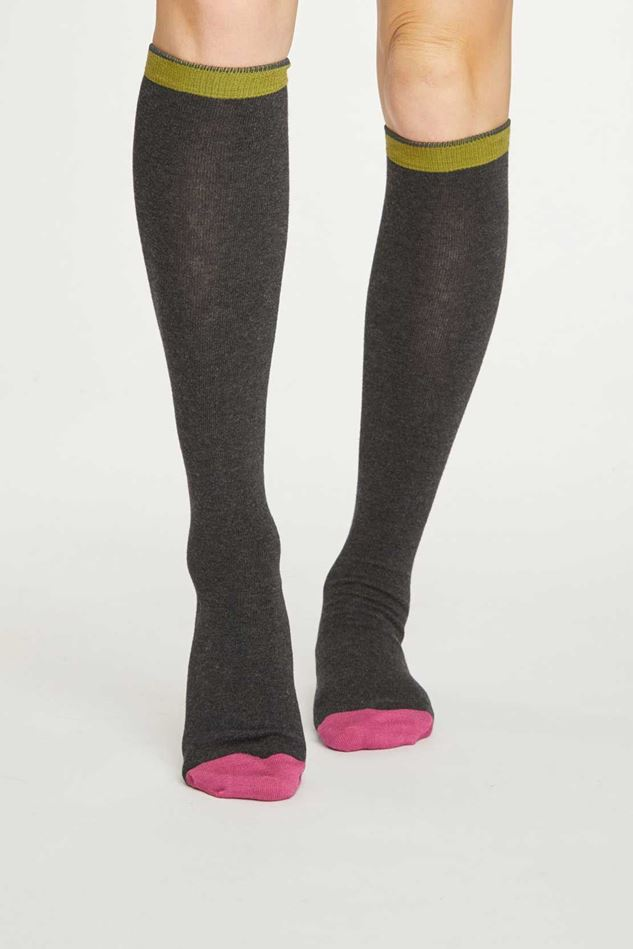 Picture of Thought Colour Block Below The Knee Bamboo Socks