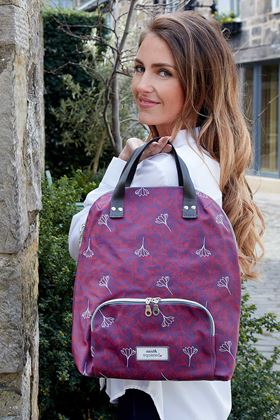 Picture of Earth Squared Aubergine Flower Back Pack