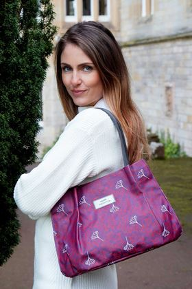 Picture of Earth Squared Aubergine Flower Print Freya Bag