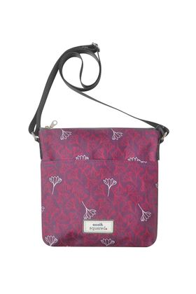 Picture of Earth Squared Aubergine Flower Oil Cloth Messenger Bag