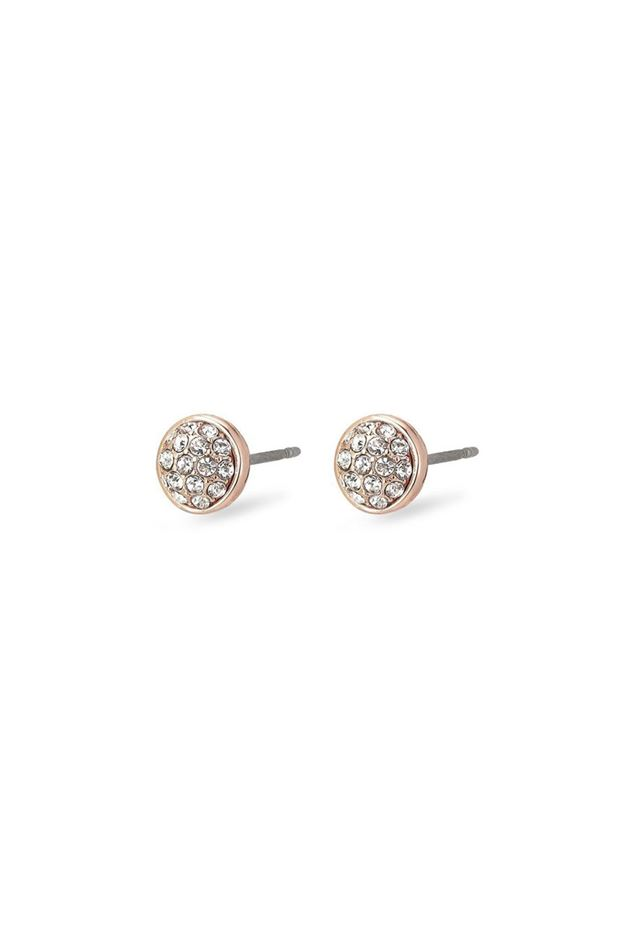 Picture of Pilgrim Heather Rose Gold Plated Crystal Earrings