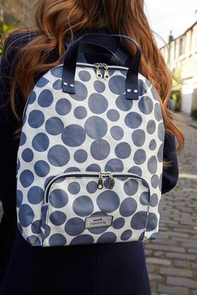 Picture of Earth Squared Blue Spot Oil Cloth Backpack