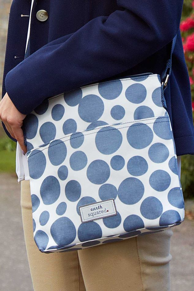Picture of Earth Squared Blue Spot Oil Cloth Messenger Bag