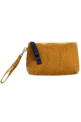 Picture of Earth Squared Velvet Clutch Bag