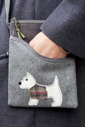 Picture of Earth Squared Scottie Dog Animal Applique Sling Bag
