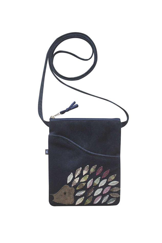 Picture of Earth Squared Hedgehog Animal Applique Sling Bag