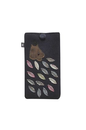 Picture of Earth Squared Hedgehog Animal Applique Glasses Case