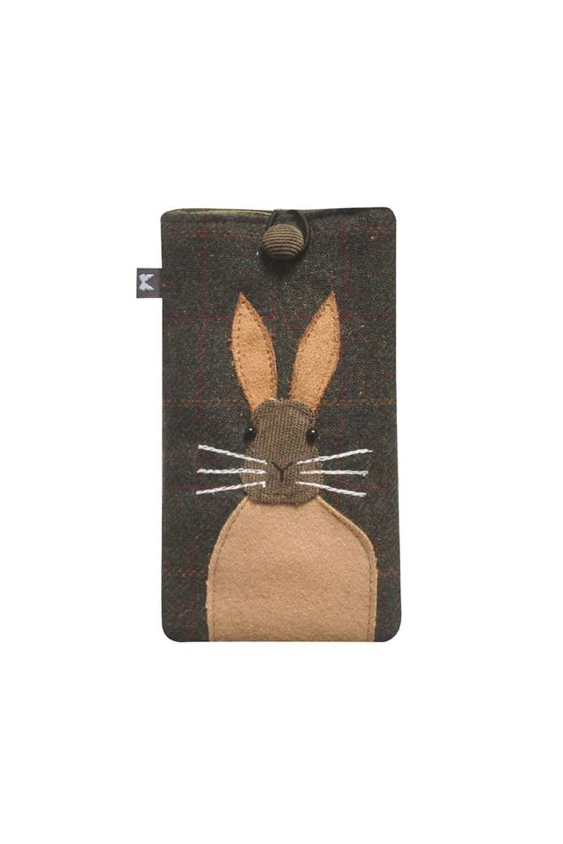 Picture of Earth Squared Hare Animal Applique Glasses Case