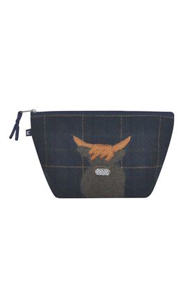Picture of Earth Squared Cow Animal Applique Make Up Bag