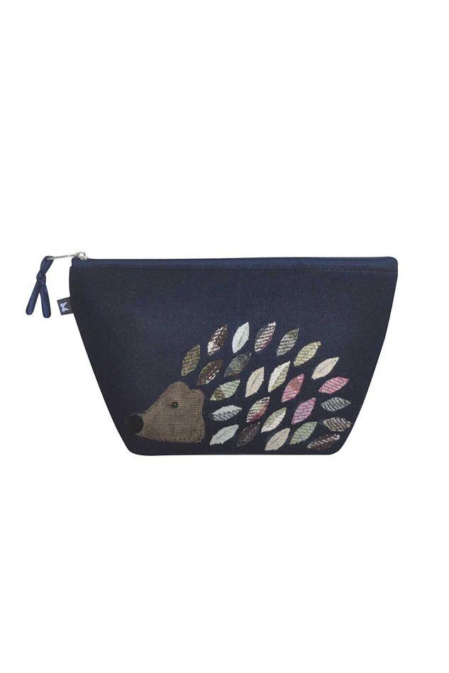 Picture of Earth Squared Hedgehog Animal Applique Make Up Bag